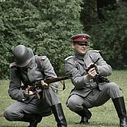 foto reconstituire istorico-militara pe platoul bucegi