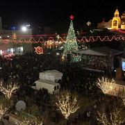 mii de oameni s-au strans la betleem orasul in care s-a nascut iisus