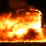 un autocar cu 50 de romani a luat foc in ungaria