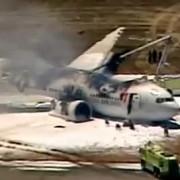un avion a luat foc pe aeroportul din san francisco