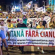 o noua duminica de proteste fata de proiectul rosia montana