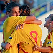 fotbalistele dau lectii 9-1 cu macedonia