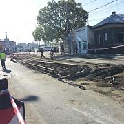 demontarea sinelor de tramvai 50 de metri in doua zile