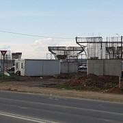 foto stadiul lucrarilor la giratoriul suspendat