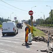 foto lucrarile la sinele de tramvai dau peste cap circulatia pe podul de la gara de sud