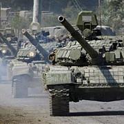 un convoi de blindate rusesti a intrat in ucraina