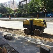 video utilaj sf pe santierul tramvaiului de pe gheorghe doja
