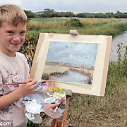 micul monet un copil de 11 ani uimeste lumea cu picturile sale video