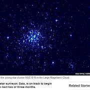 observatorul spatial gaia a trimis prima imagine din spatiu
