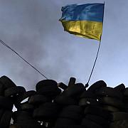 drapelul national ucrainean a fost arborat pe primaria din slaviansk