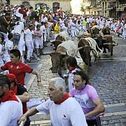 la pamplona s-a dat startul traditionalelor sarbatori ale curselor cu tauri