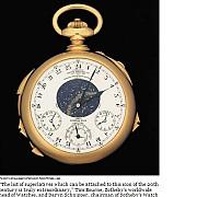 cel mai scump ceas din lume va fi scos la licitatie in noiembrie la geneva