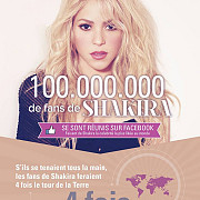 shakira a devenit cea mai populara persoana pe facebook cu peste 100 de milioane de admiratori