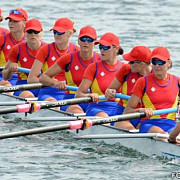 echipajul feminin de 8+1 al romaniei medalie de aur la campionatele euopene de canotaj