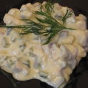 salata greceasca cu peste marinat