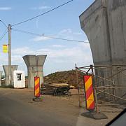 foto stadiul lucrarilor la giratoriul suspendat ii