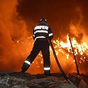 pompier ranit intr-un incendiu produs in centrul vechi al capitalei