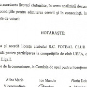 petrolul are licenta pentru competitiile de club uefa