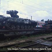 tancuri si transportoare surprinse in gara de sud din ploiesti