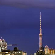 incendiu suspect la turnul televiziunii din kiev