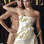irina shayk si cristiano ronaldo pe coperta revistei vogueportughezul a pozat gol foto