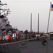 o nava militara americana mobilizata in apropierea coastelor libiei