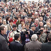angajatii dacia au protestat in centrul orasului mioveni