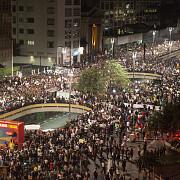 sute de persoane au manifestat impotriva cupei mondiale la sao paulo