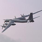 un bombardier rusesc interceptat de aviatia britanica