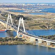a fost inaugurat cel mai mare pod hobanat din romania