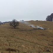 elicopterul prabusit a fost transportat la campia turzii perimetrul nu mai este pazit