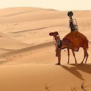 desert fotografiat de google cu ajutorul unei camile