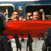 ungurii au venit la meci cu trenul