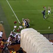 video bataie generala la meciul serbia albania partida a fost suspendata