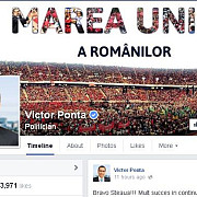 popularitatea lui victor ponta pe facebook in crestere