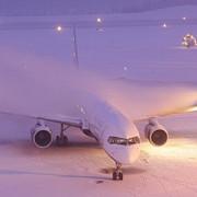 ninsoarea a afectat circulatia feroviara si cursele aeriene
