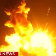 nasa o racheta fara echipaj a explodat la lansare video