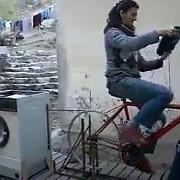 bicicleta de spalat rufe