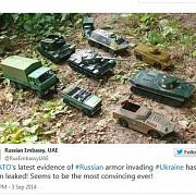 rusia face misto de nato si dezvaluie imagini cu propriile tancuri de jucarie