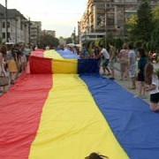 cel mai mare tricolor din istoria romaniei si a moldovei