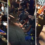 un sarpe de 8 metri prins langa un restaurant chinezesc din bangkok video