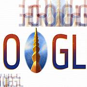 google sarbatoreste ziua nationala a romaniei printr-un logo in care apare coloana infinitului