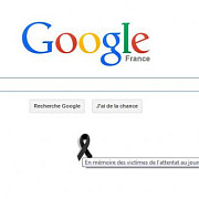 doliu in franta google france are un logo special