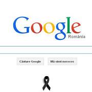 google romania a adaugat o panglica neagra sub logoul sau in memoria victimelor charlie hebdo