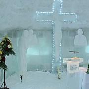 biserica de gheata de la balea lac a fost deschisa