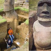 descoperire remarcabila moaii din insula pastelui au corpul ingropat in pamant