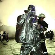 incendiu puternic la o fabrica de ciment din hunedoara