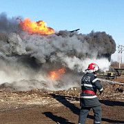 incendiu in vest o cisterna cu smoala a explodat in strada isu nu sunt victime