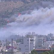 incendiu de proportii in grecia 3 sate si sute de turisti evacuati