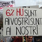 proteste ale studentilor la timisoara